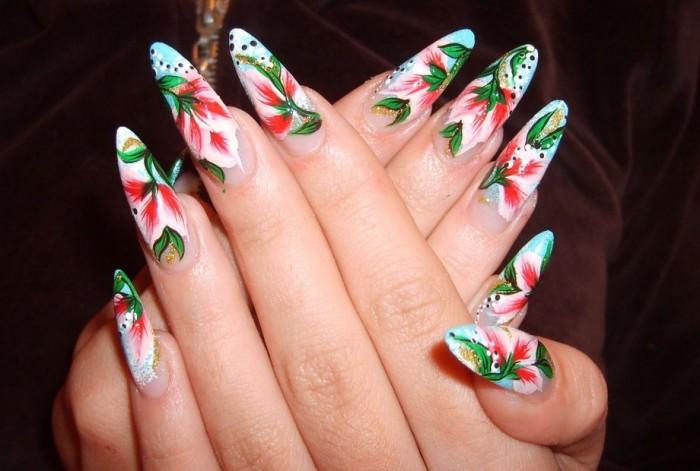 Роспись ногтей: как рисовать узоры