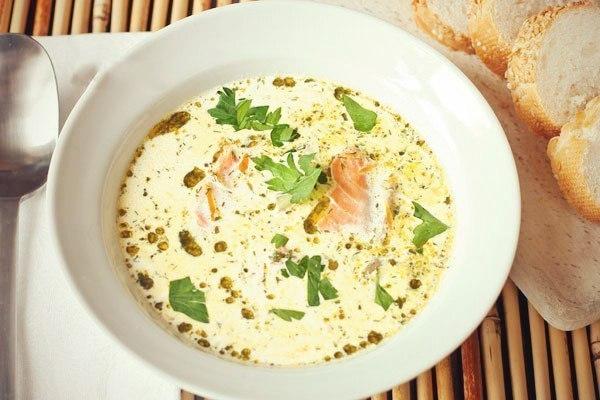 Рецепты мультиварки: суп сливочный с лососем