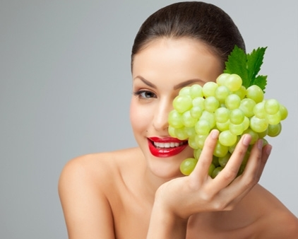 Виноградная маска для ежедневного очищения кожи
