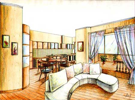 Наружная красота и стиль помещения
