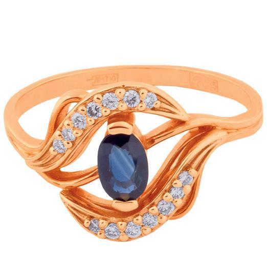 Золотые кольца с овальным камнем представлены в широком ассортименте