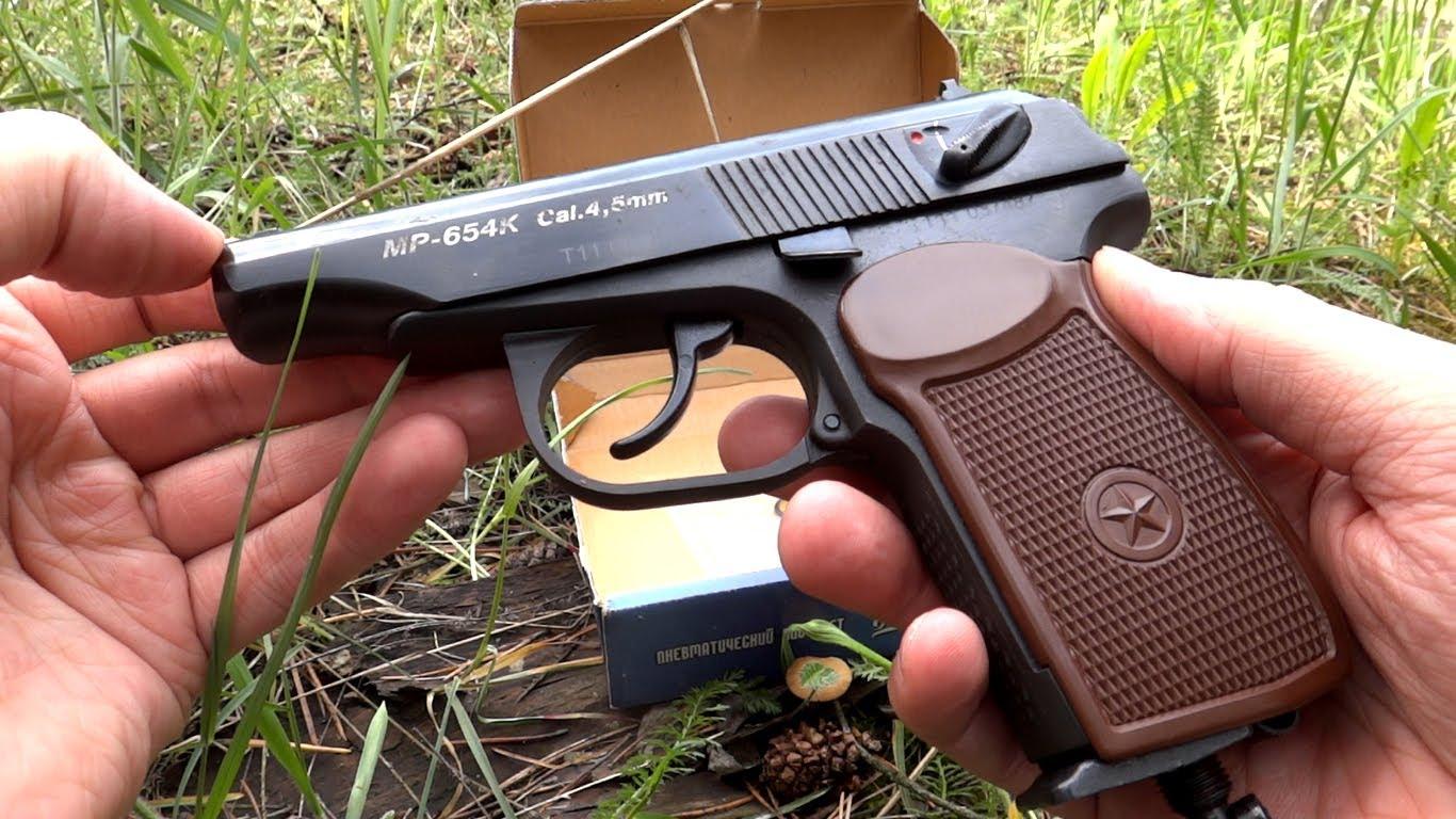 Характеристика пневматического пистолета Макаров МР-654К.