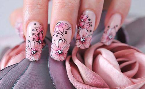 Ногти: рисуем цветы