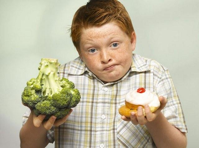 Диета для детей с лишним весом