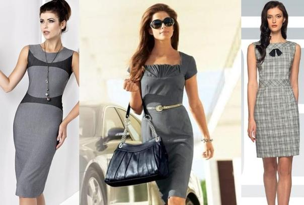 С чем сочетать серое платье, чтобы выглядеть стильно?