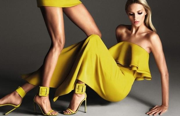 Модные идеи с чем носить желтое платье