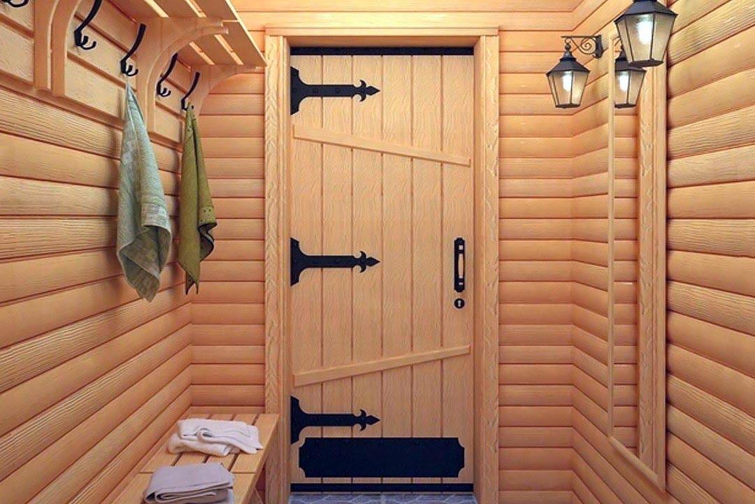 Двери в баню. Стеклянная дверь для хамама