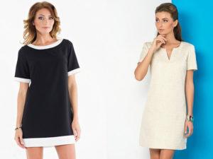 Платье прямого кроя – пора принимать оригинальные решения!
