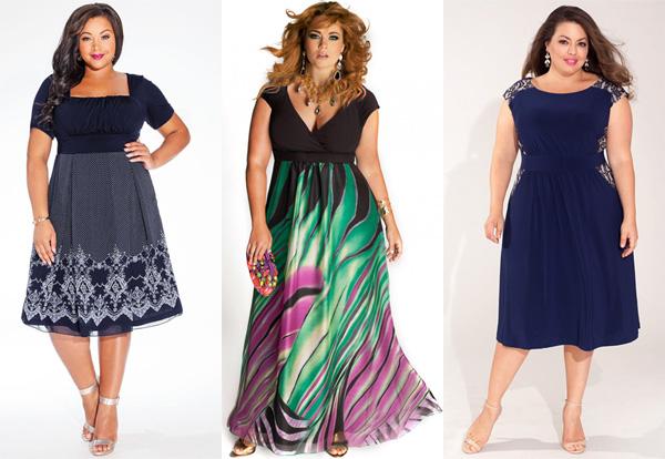 Как выбирать платья для полных женщин