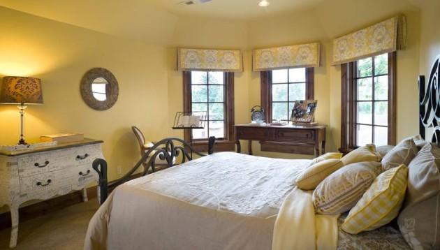 Как использовать желтый цвет в оформлении интерьера спальной комнаты