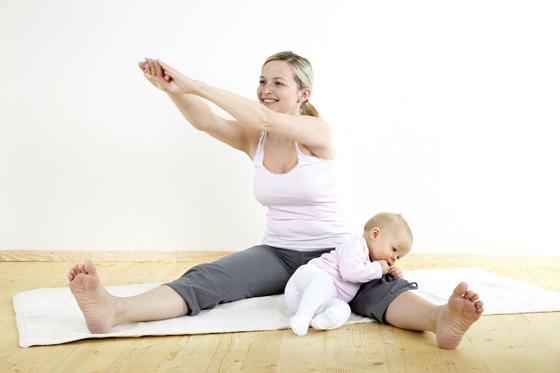 Как убрать живот после родов?