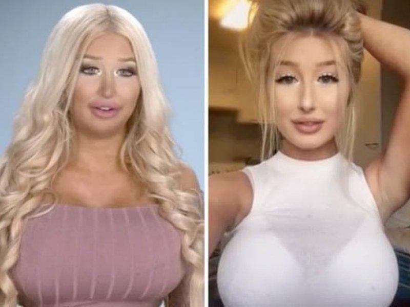 Женщина хочет стать живой куклой с помощью пластики